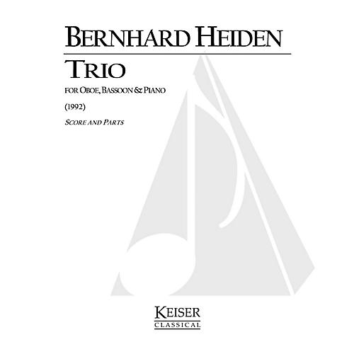 Lauren Keiser Music Publishing Trio for Oboe, Bassoon and Piano LKM Music Series Composed by Bernhard Heiden thumbnail