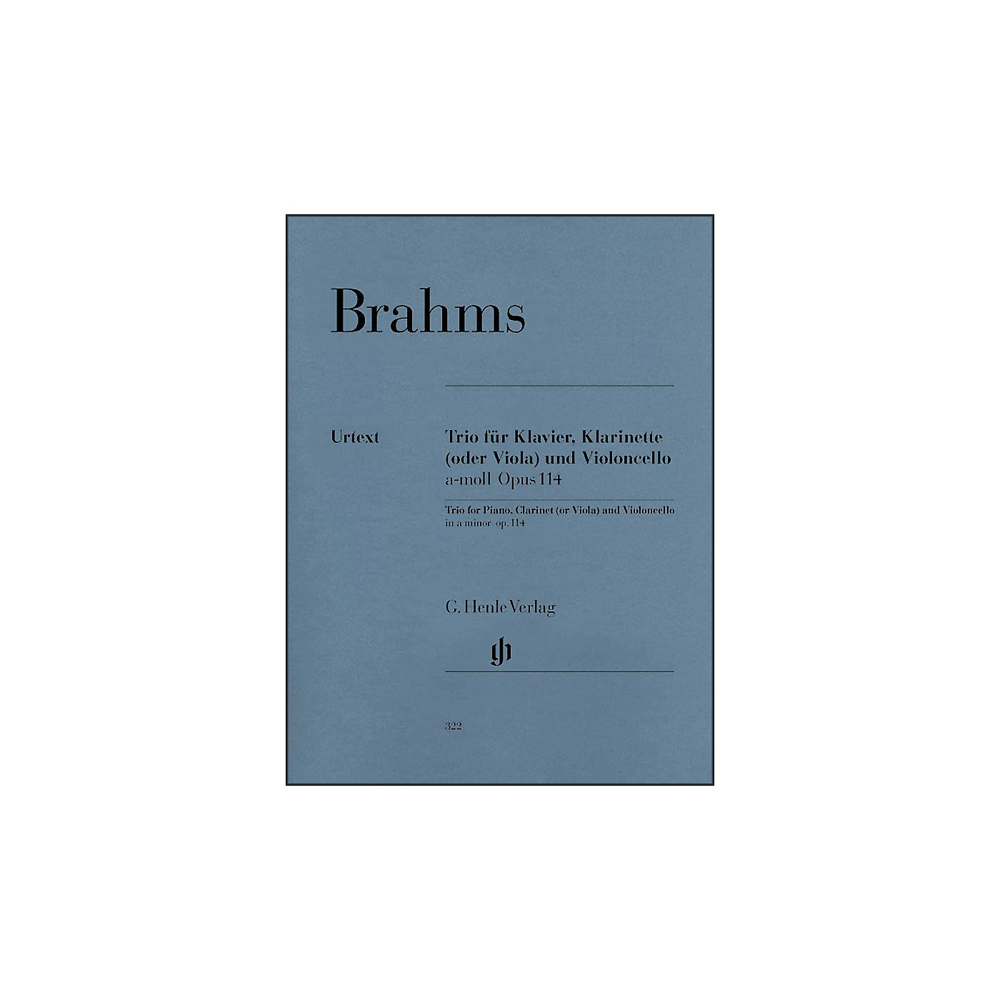 G. Henle Verlag Trio for Piano, Clarinet (Or Viola) And Violoncello In A Minor Op. 114 By Brahms thumbnail