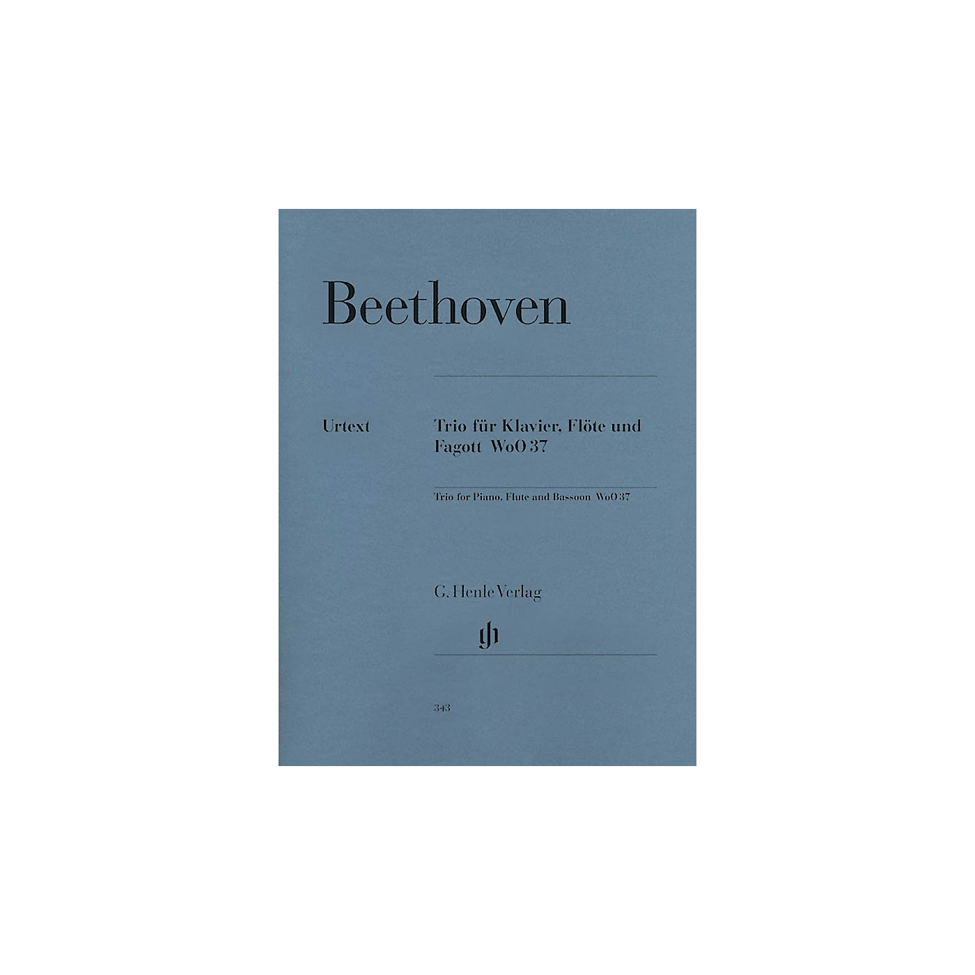 G. Henle Verlag Trio for Piano, Flute, and Bassoon, WoO 37 Henle Music Folios Series Softcover by Ludwig van Beethoven thumbnail