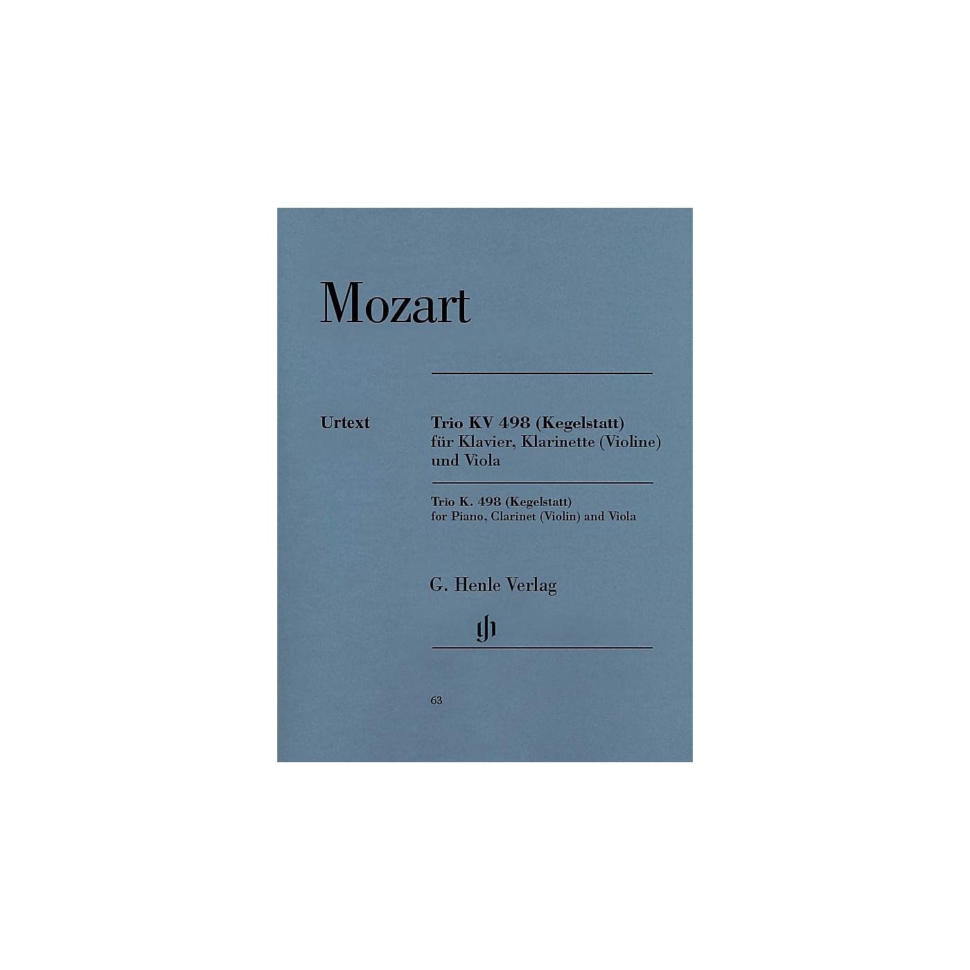 G. Henle Verlag Trio in E-flat Major K. 498 (Kegelstatt) Henle Music Folios Series Softcover thumbnail