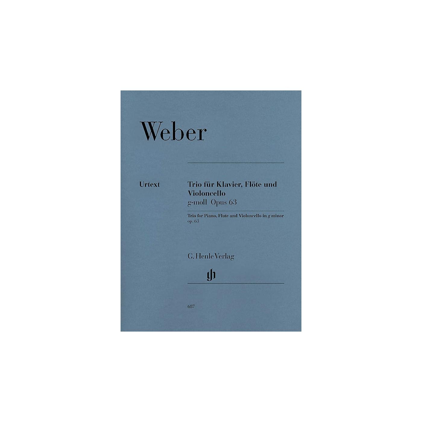 G. Henle Verlag Trio in G minor Op. 63 Henle Music Folios Series Softcover by Carl Maria von Weber thumbnail