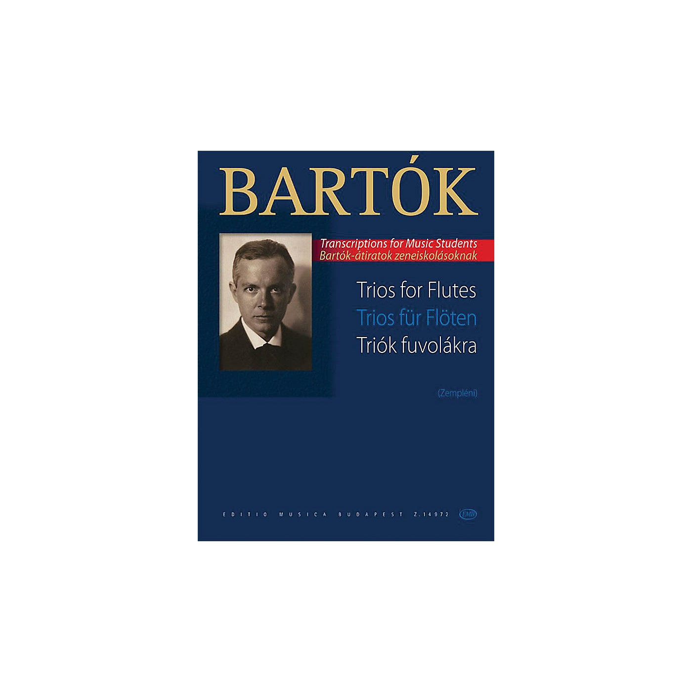 Editio Musica Budapest Trios for Flutes EMB Series Softcover Composed by Béla Bartók thumbnail