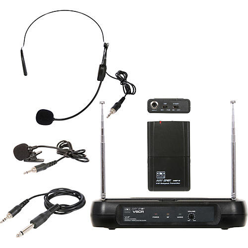 Galaxy Audio Triple Play Diversity VHF Wireless Belt Pack System-thumbnail