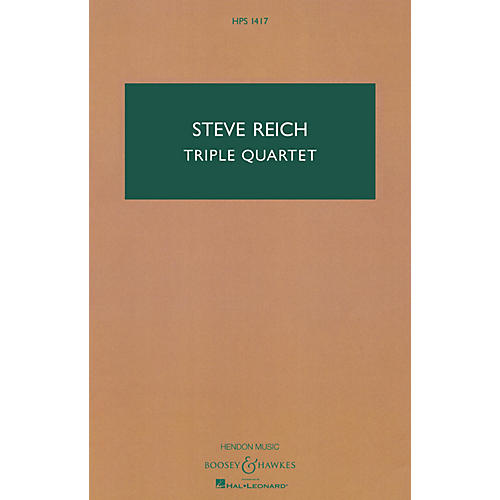 Boosey and Hawkes Triple Quartet Boosey & Hawkes Scores/Books Series Composed by Steve Reich thumbnail