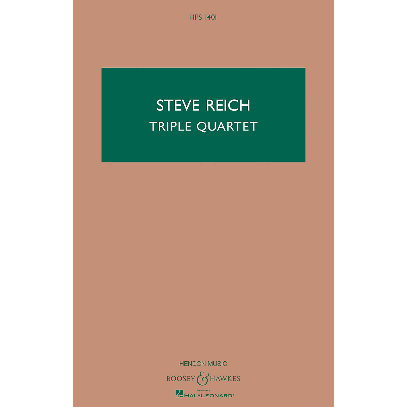 Boosey and Hawkes Triple Quartet (Version for String Quartet and Tape) Boosey & Hawkes Scores/Books Series by Steve Reich thumbnail