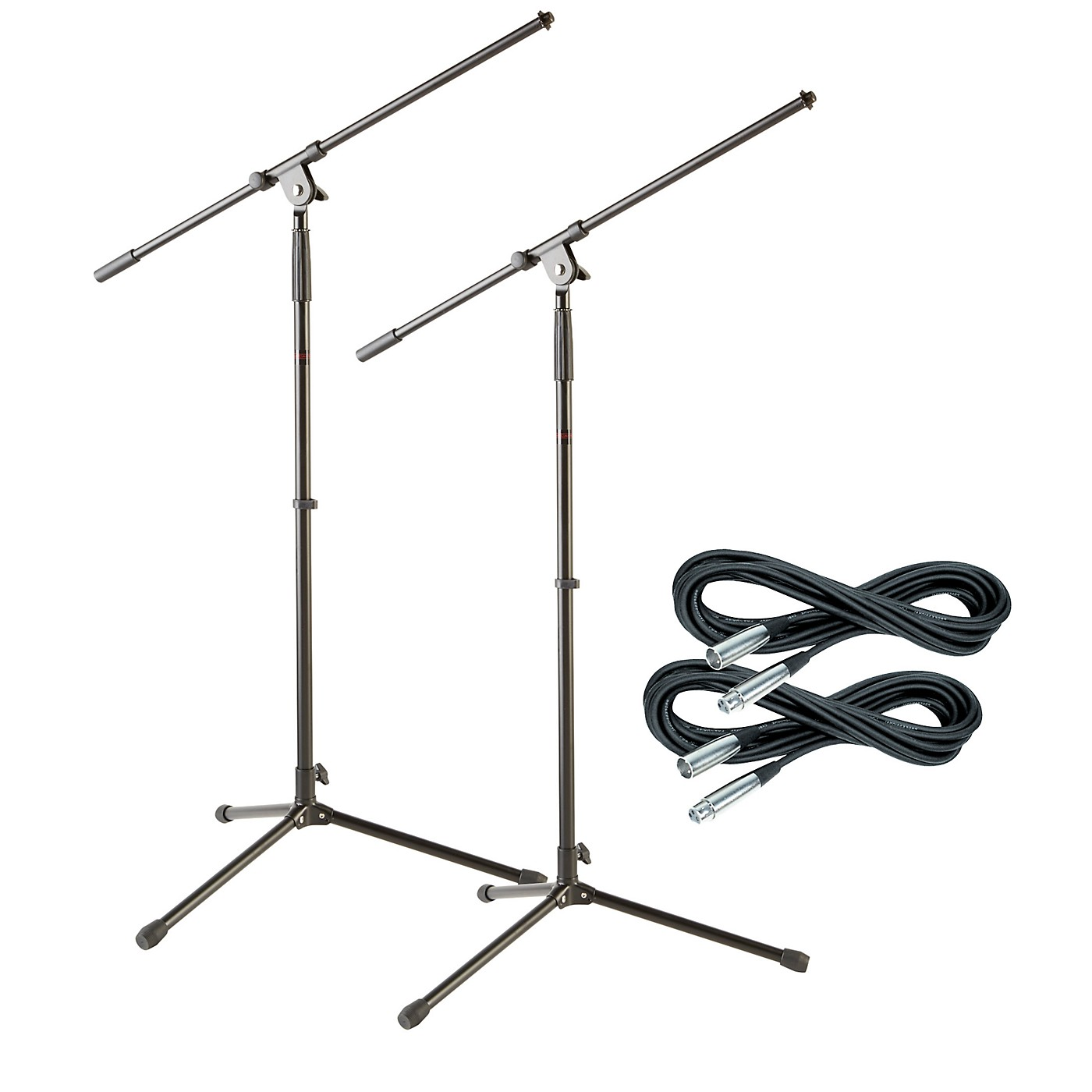 Musician's Gear Tripod Mic Stand with 20 Foot Mic Cable (2 Pack) thumbnail