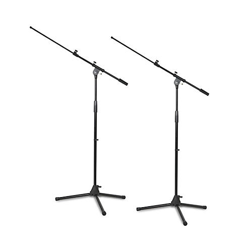 Musician's Gear Tripod Microphone Stand With Telescoping Boom Black 2-Pack thumbnail