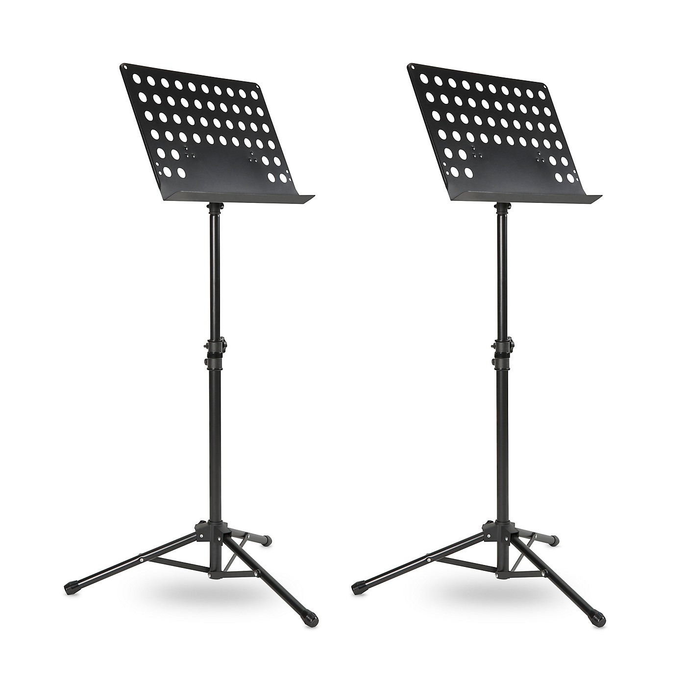 Musician's Gear Tripod Orchestral Music Stand Perforated Black - 2 Pack thumbnail