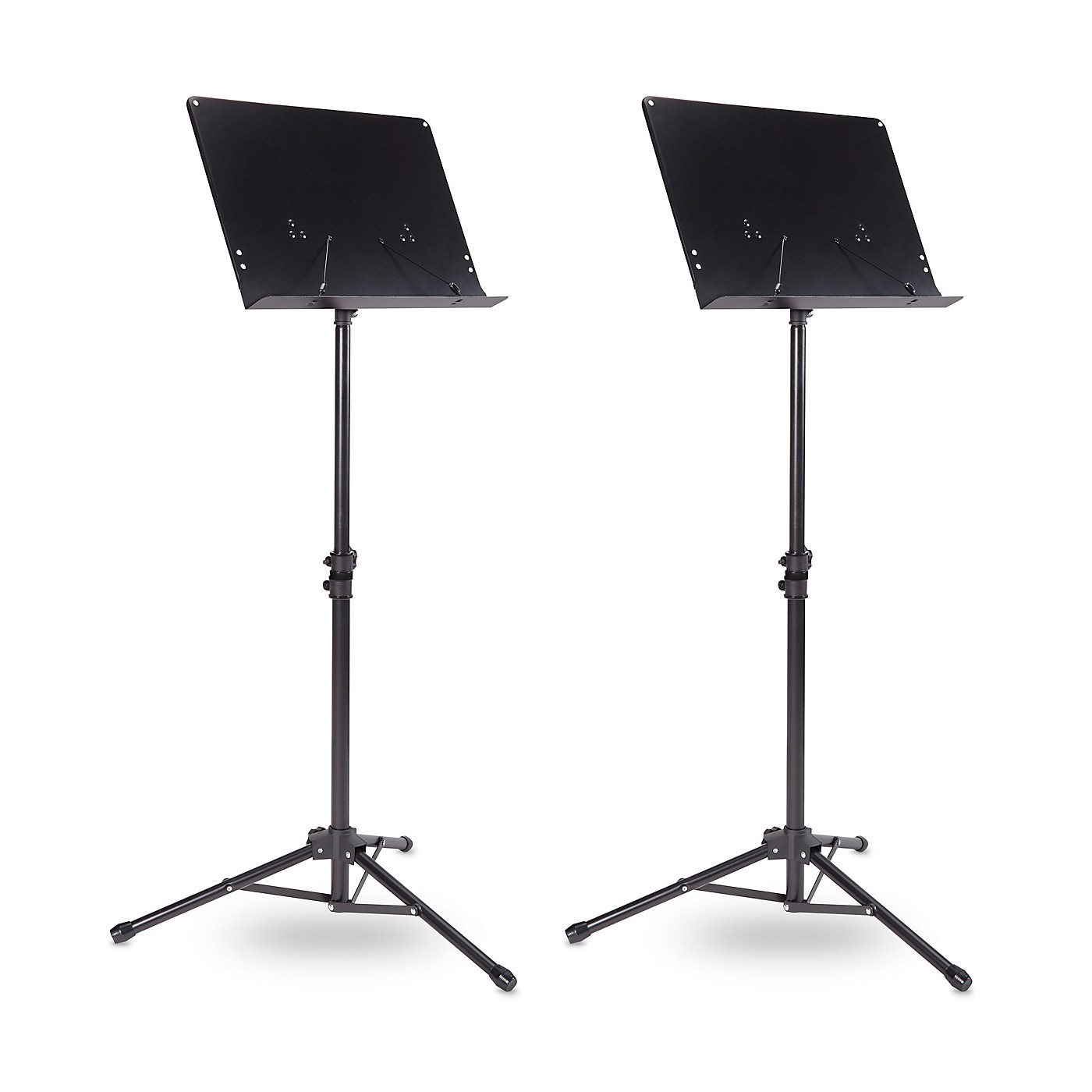 Musician's Gear Tripod Orchestral Music Stand Regular Black - 2 Pack thumbnail
