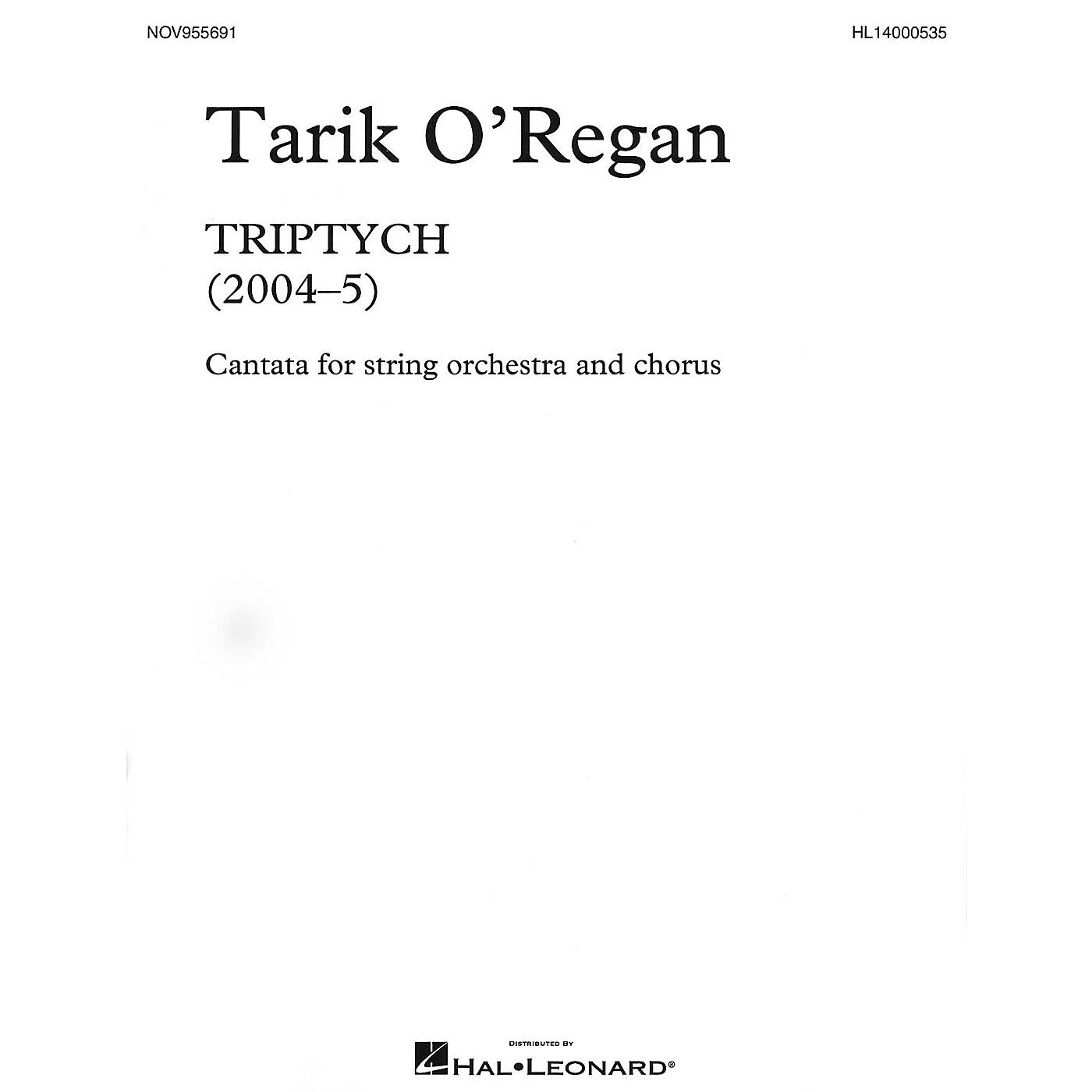 Novello Triptych (Cantata for string orchestra and chorus Vocal Score) SATB Composed by Tarik O'Regan thumbnail