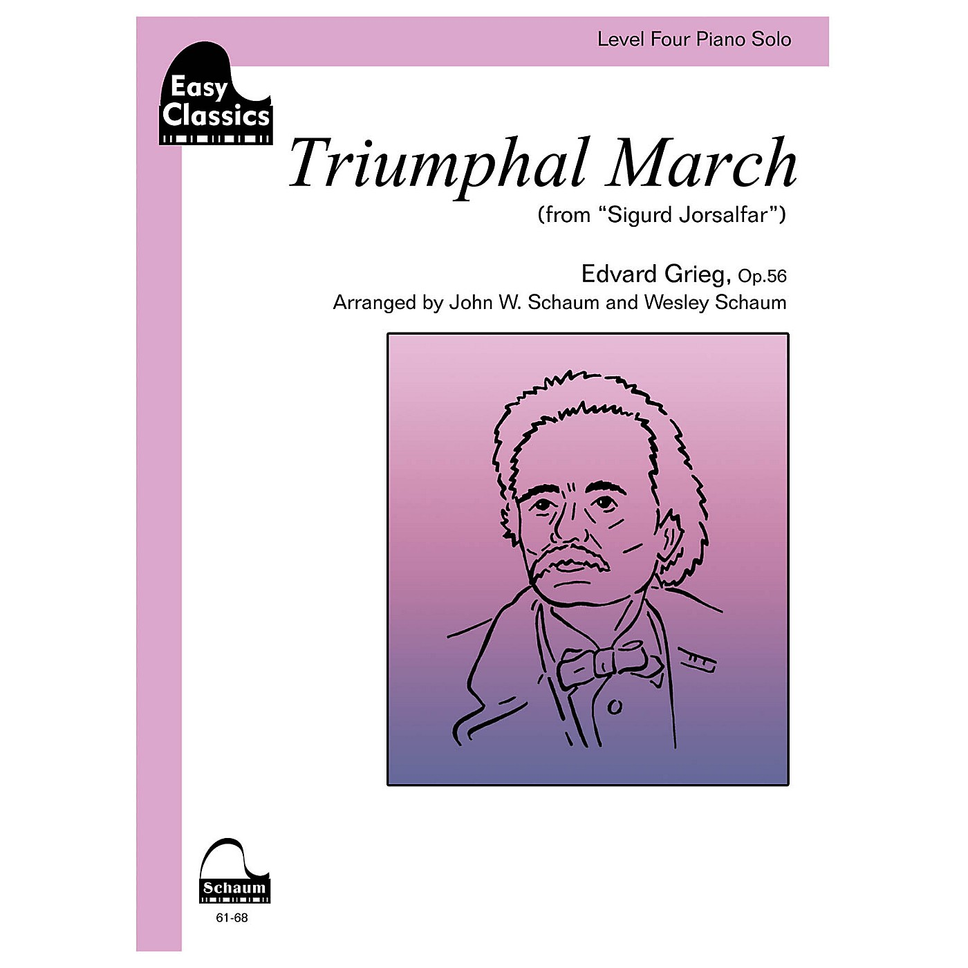 SCHAUM Triumphal March, Op. 56 Educational Piano Book by Edvard Grieg (Level Inter) thumbnail