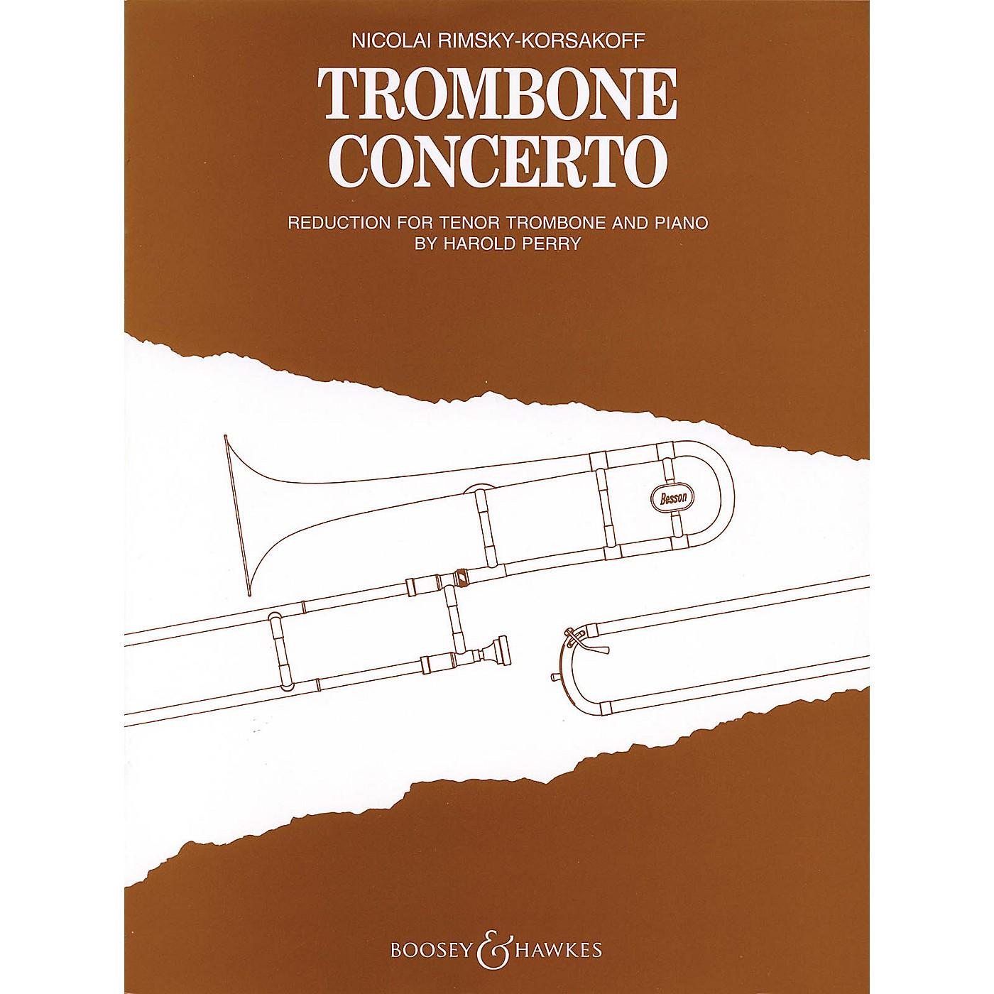 Boosey and Hawkes Trombone Concerto (Trombone and Piano) Boosey & Hawkes Chamber Music Series by Nikolai Rimsky-Korsakoff thumbnail