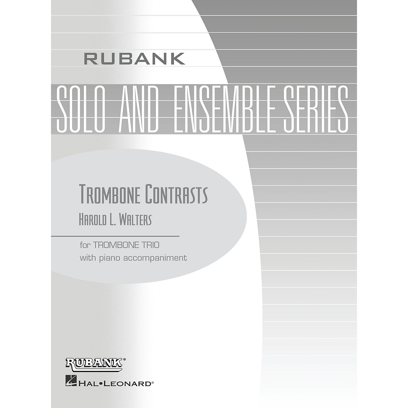 Rubank Publications Trombone Contrasts (Trombone Trio with Piano - Grade 2.5) Rubank Solo/Ensemble Sheet Series thumbnail