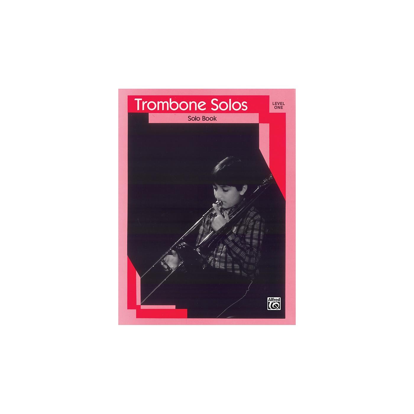 Alfred Trombone Solos Level I Solo Book thumbnail