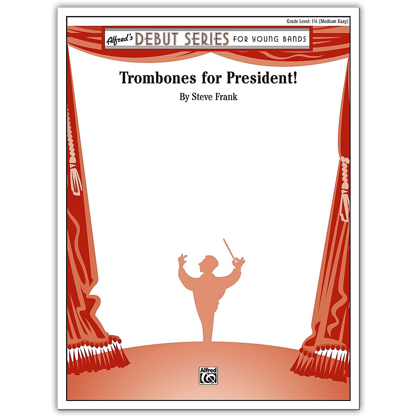 Alfred Trombones for President! Concert Band Grade 1 Set thumbnail