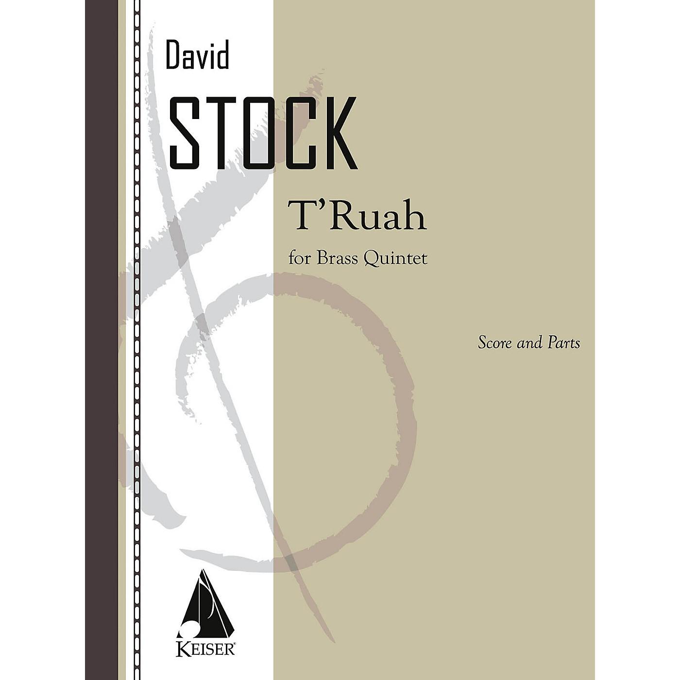 Lauren Keiser Music Publishing T'ruah for Brass Quintet LKM Music Series Book  by David Stock thumbnail
