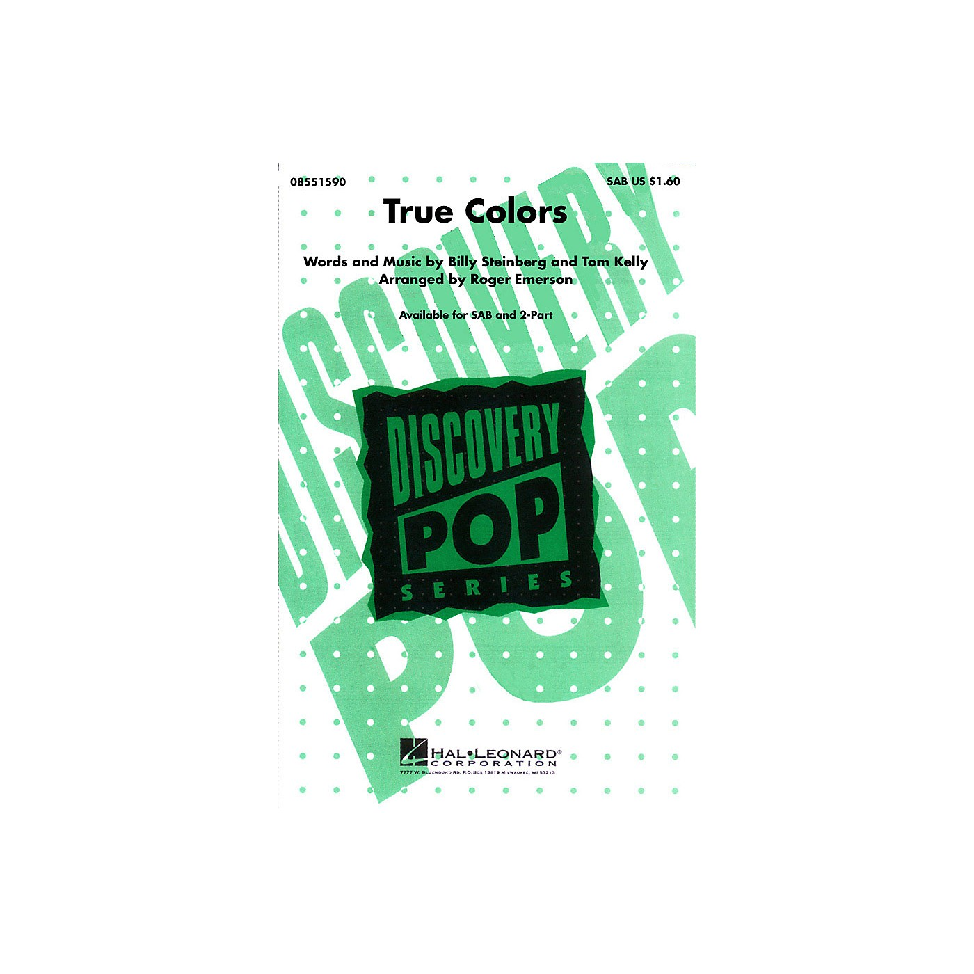 Hal Leonard True Colors SAB by Cyndi Lauper arranged by Roger Emerson thumbnail