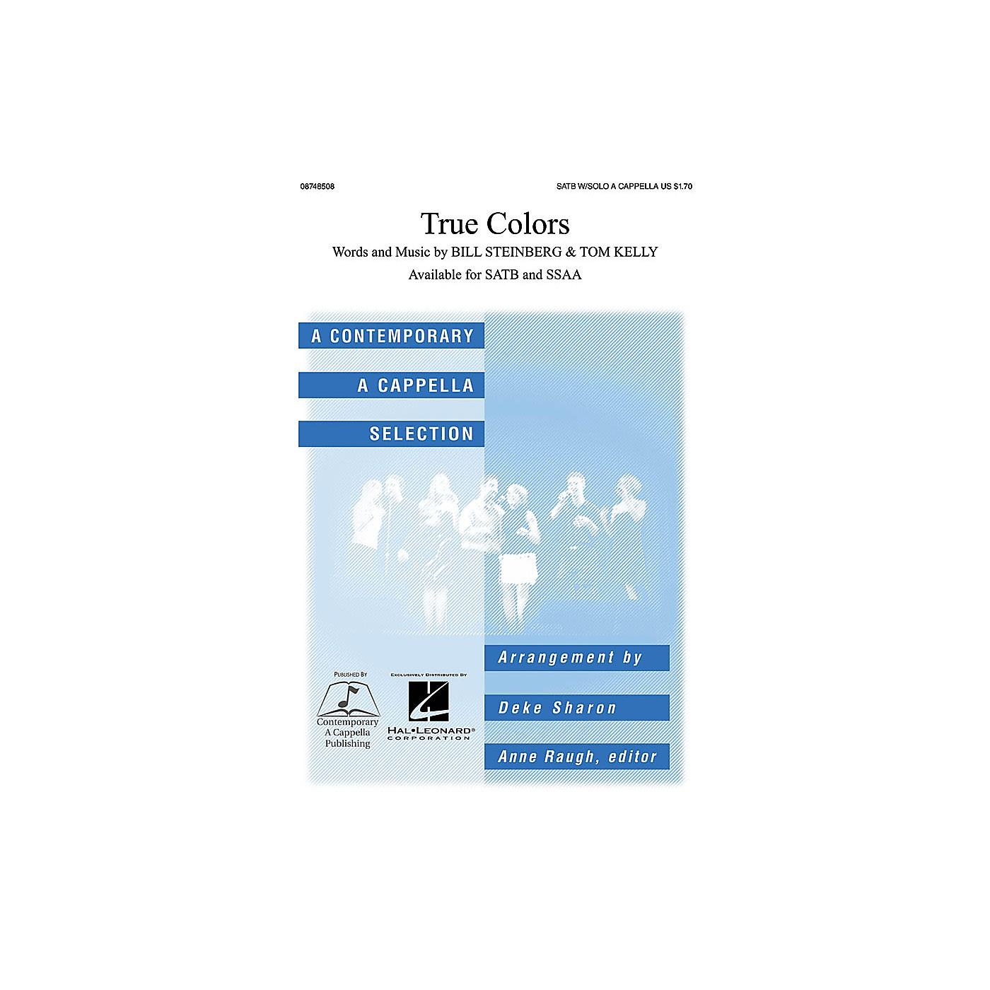 Contemporary A Cappella Publishing True Colors SATB a cappella arranged by Deke Sharon thumbnail