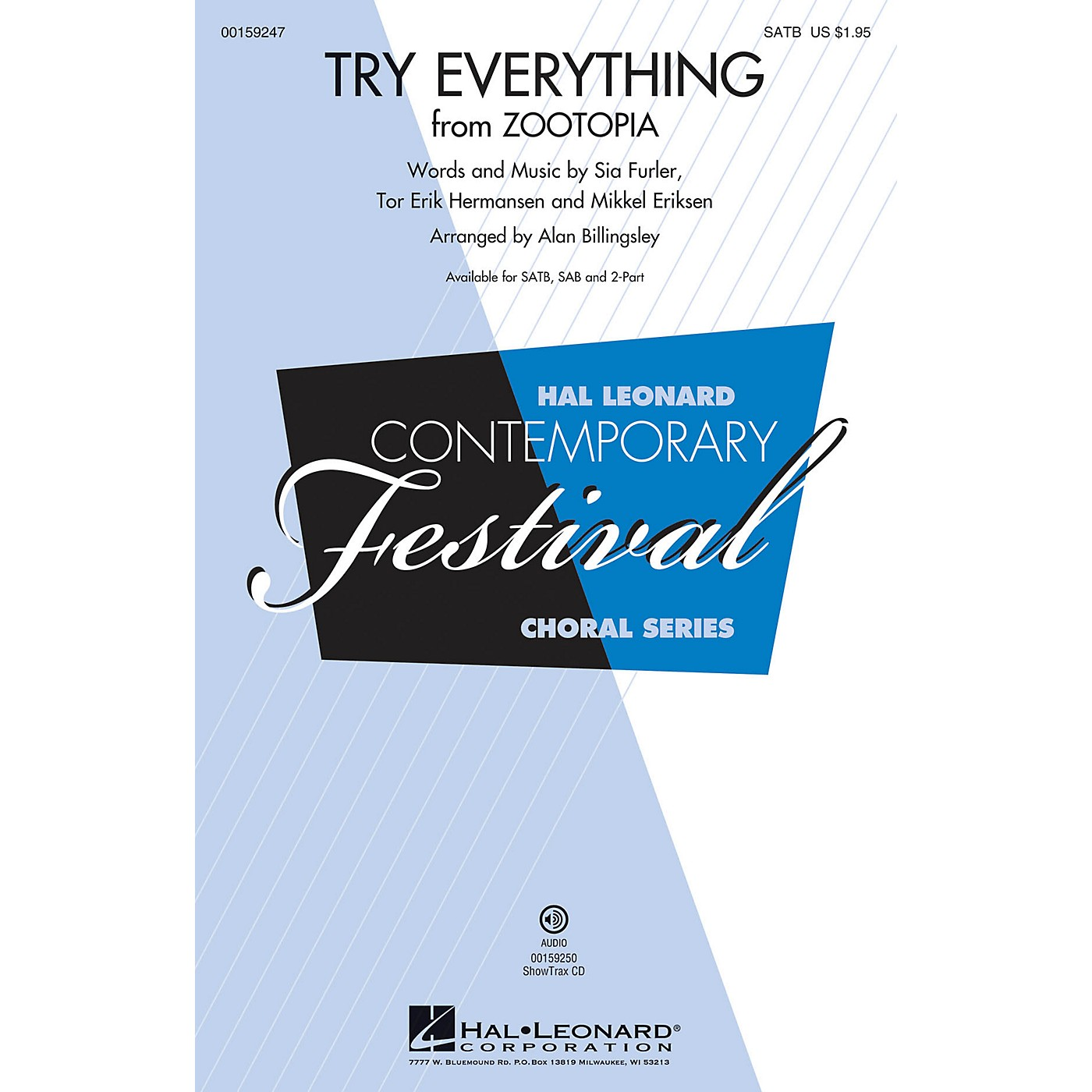 Hal Leonard Try Everything (from Zootopia) SAB by Shakira Arranged by Alan Billingsley thumbnail