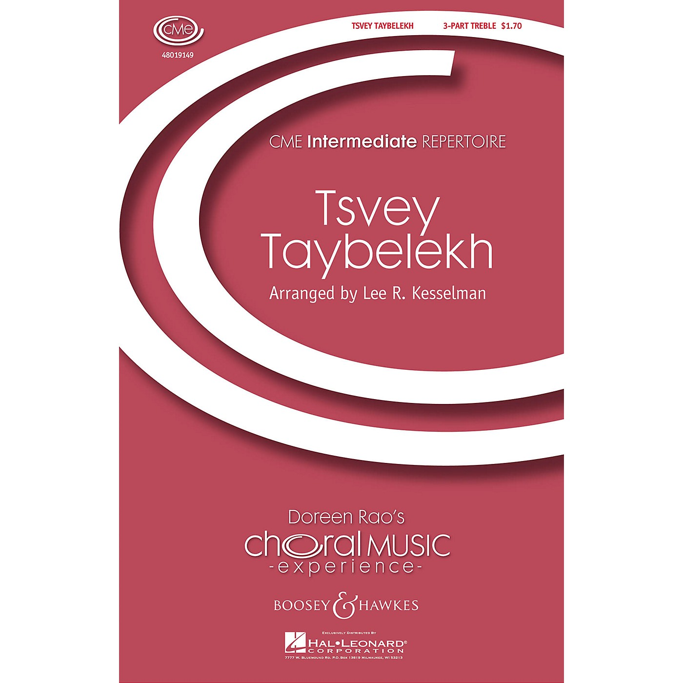 Boosey and Hawkes Tsvey Taybelekh (The Two Doves) (CME Intermediate) 3 Part Treble arranged by Lee Kesselman thumbnail