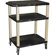 "H. Wilson Tuffy Plastic 34"" 3 Shelf Utility Cart"