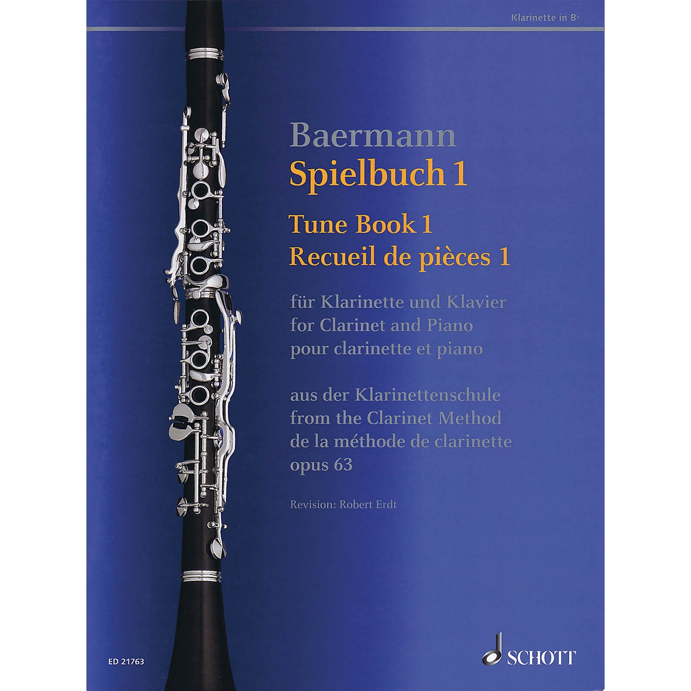 Schott Tune Book 1, Op. 63 Woodwind Solo Series Softcover thumbnail