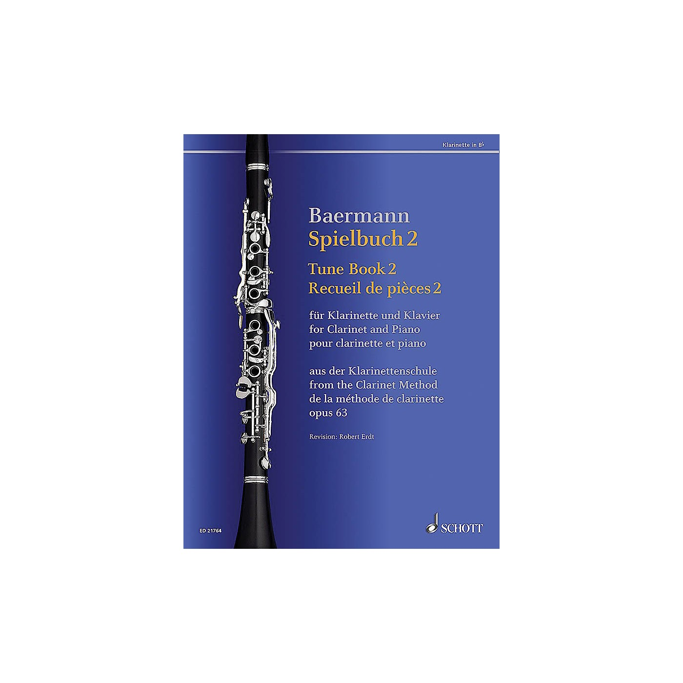 Schott Tune Book 2, Op. 63 Woodwind Solo Series Softcover thumbnail