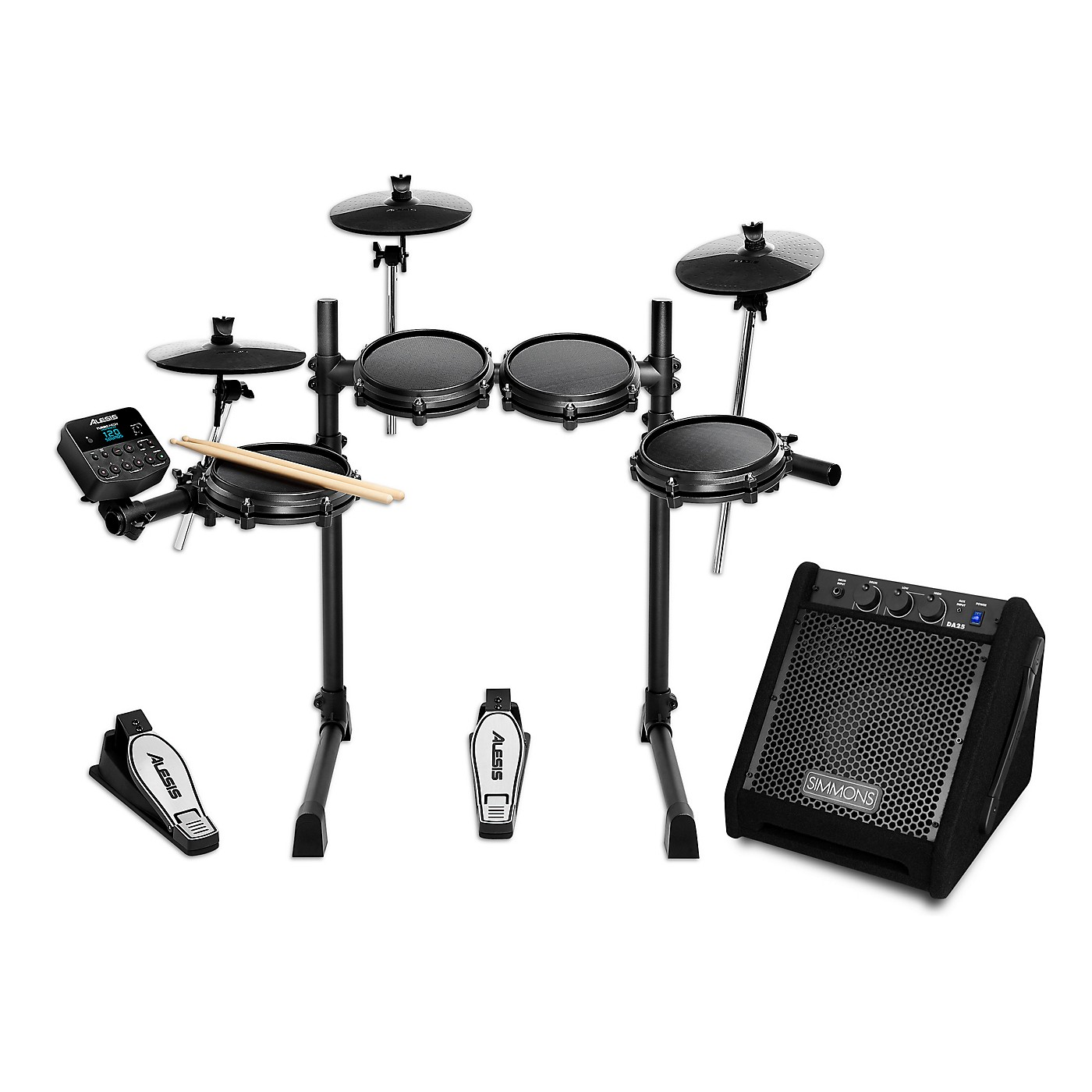 Alesis Turbo Mesh Electronic Drum Kit with Simmons DA25 Monitor thumbnail