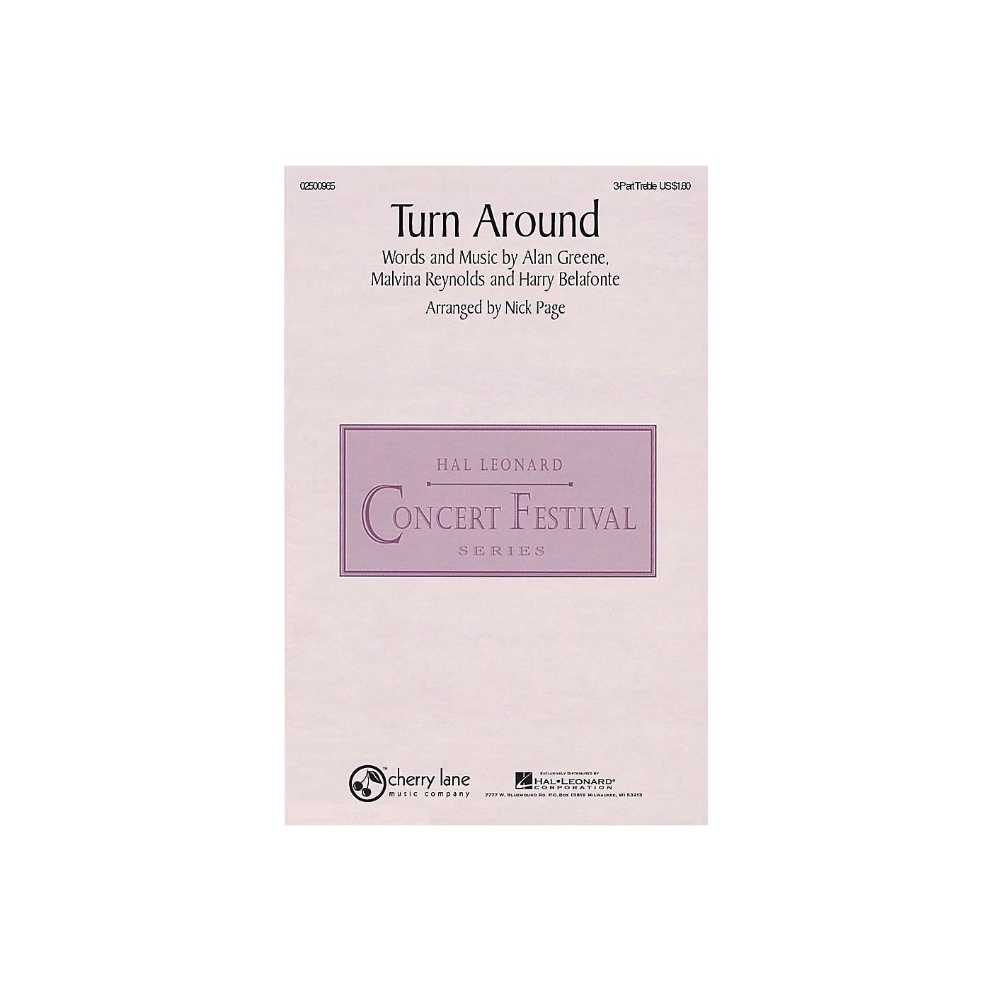 Hal Leonard Turn Around 3 Part Treble arranged by Nick Page thumbnail