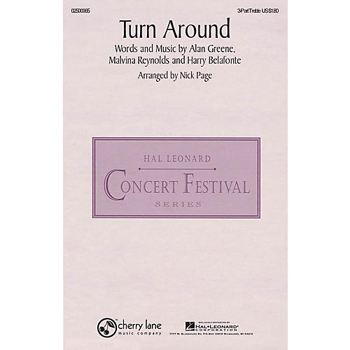 Hal Leonard Turn Around 3 Part Treble arranged by Nick Page thumbnail