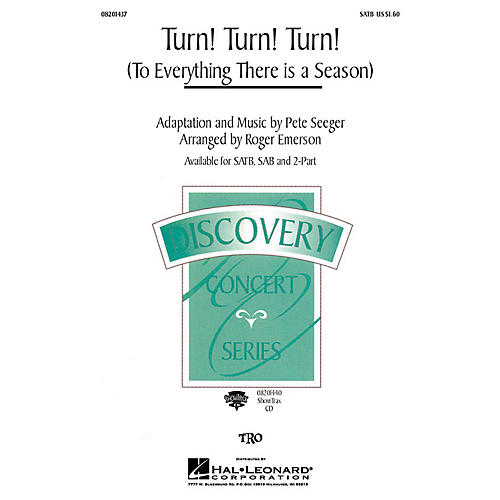 Hal Leonard Turn! Turn! Turn! (To Everything There Is a Season) 2-Part by The Byrds Arranged by Roger Emerson thumbnail