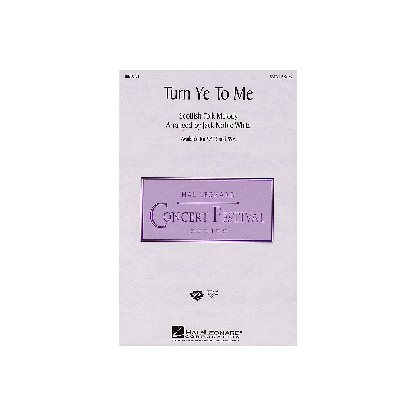 Hal Leonard Turn Ye to Me SSA Arranged by Jack Noble White thumbnail