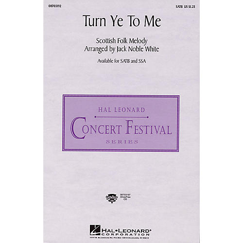 Hal Leonard Turn Ye to Me ShowTrax CD Arranged by Jack Noble White thumbnail