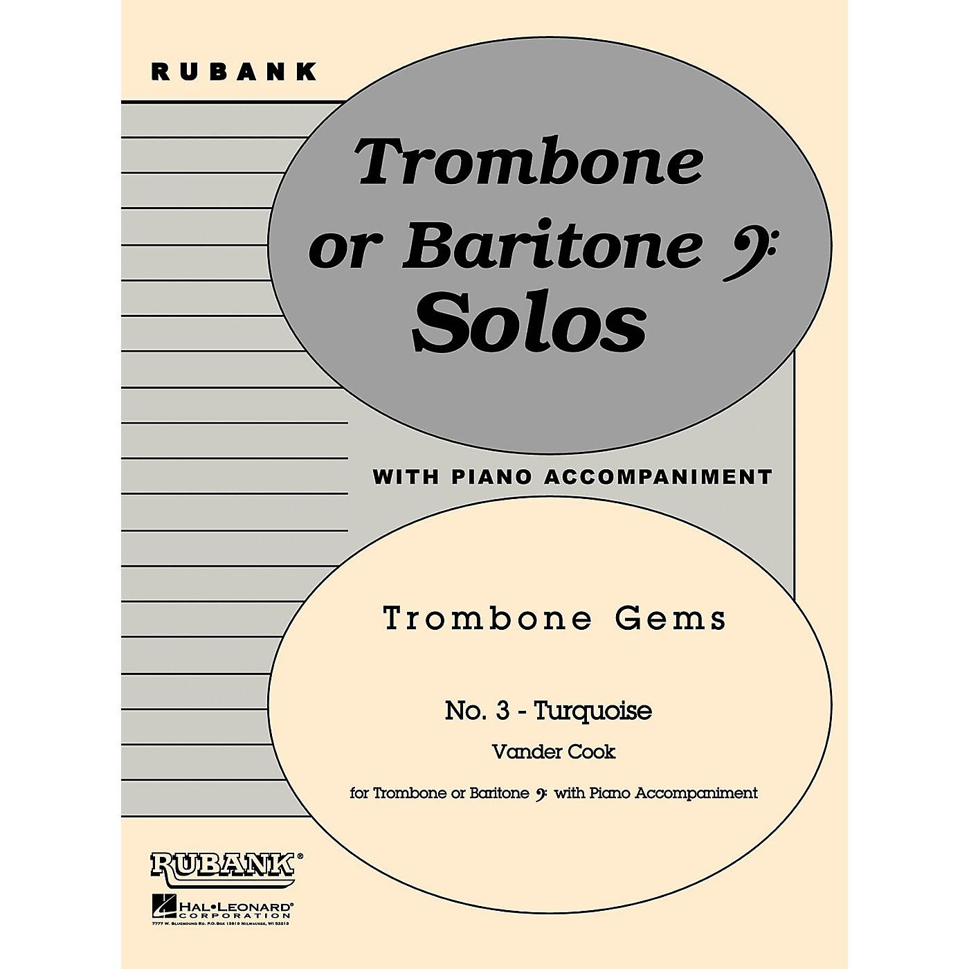 Rubank Publications Turquoise (Trombone (Baritone B.C.) Solo with Piano - Grade 2) Rubank Solo/Ensemble Sheet Series thumbnail