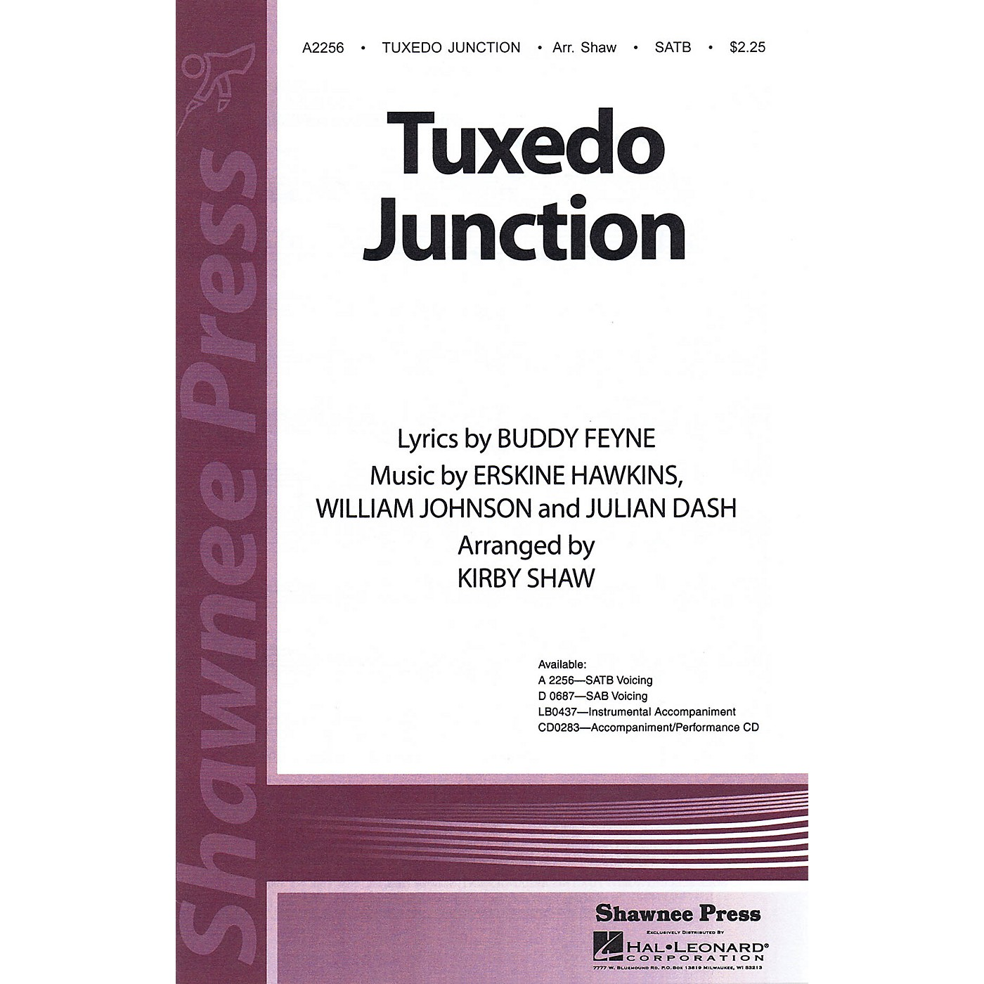 Shawnee Press Tuxedo Junction Studiotrax CD Arranged by Kirby Shaw thumbnail