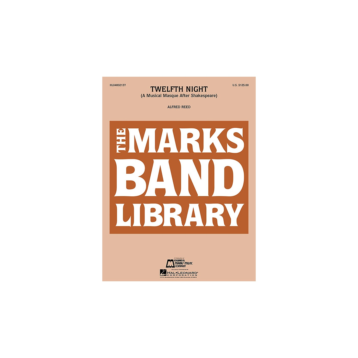Edward B. Marks Music Company Twelfth Night (A Musical Masque After Shakespeare) Concert Band Level 4-5 Composed by Alfred Reed thumbnail