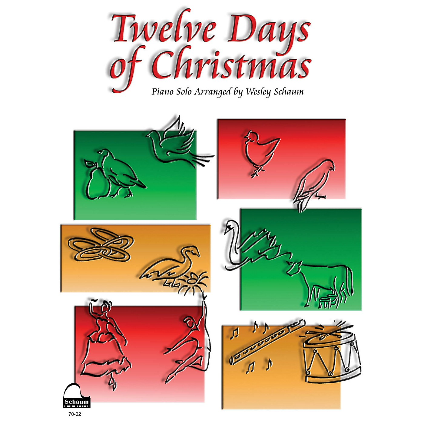 SCHAUM Twelve Days of Christmas Educational Piano Series Softcover thumbnail