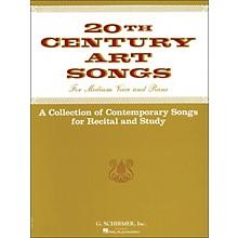 G. Schirmer Twentieth (20th) Century Art Songs Medium Voice for Recital And Study