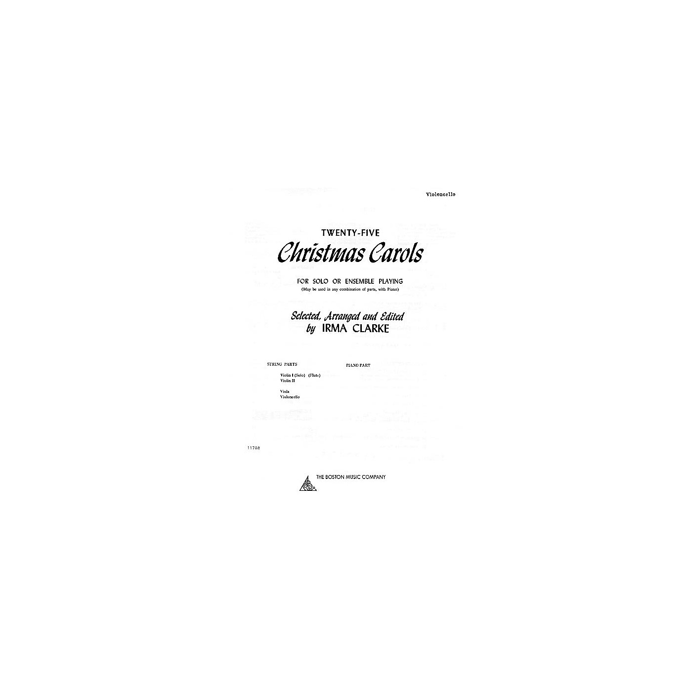 Music Sales Twenty-Five Christmas Carols - Cello (for Solo or Ensemble Playing) Music Sales America Series thumbnail
