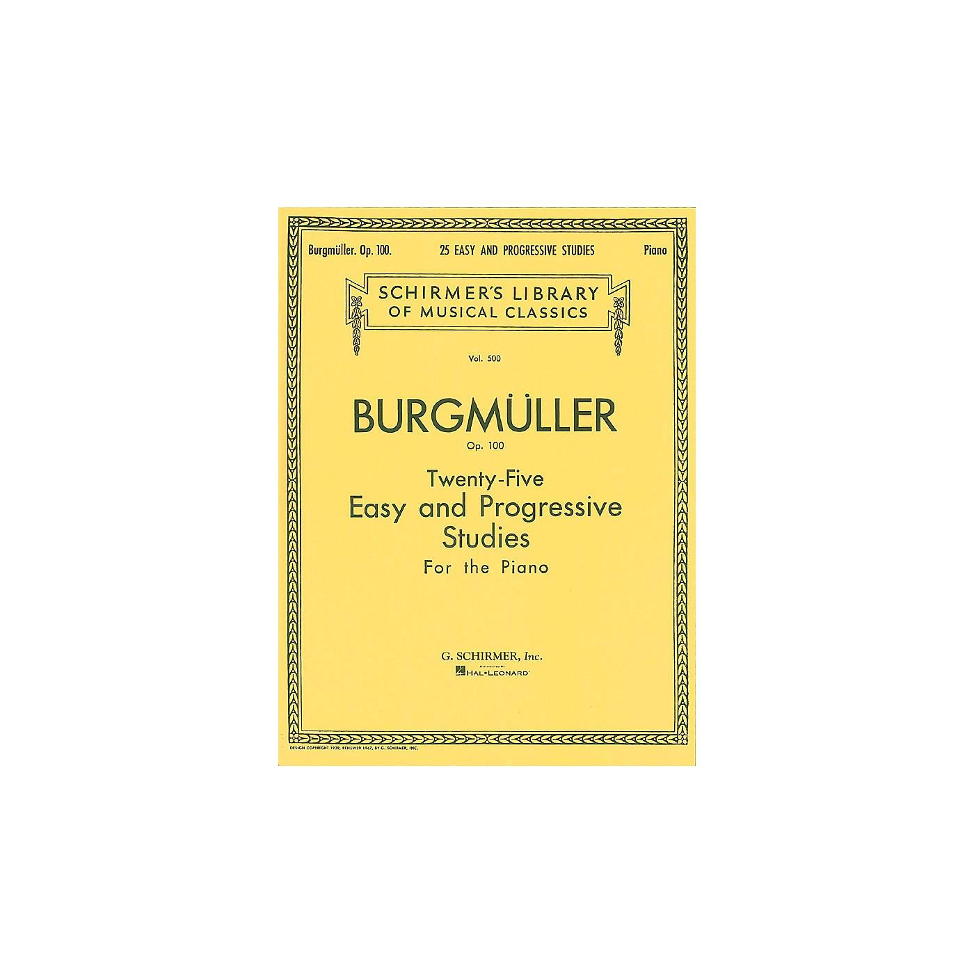 G. Schirmer Twenty-Five Easy And Progressive Studies For The Piano Op. 100 Complete 25 thumbnail