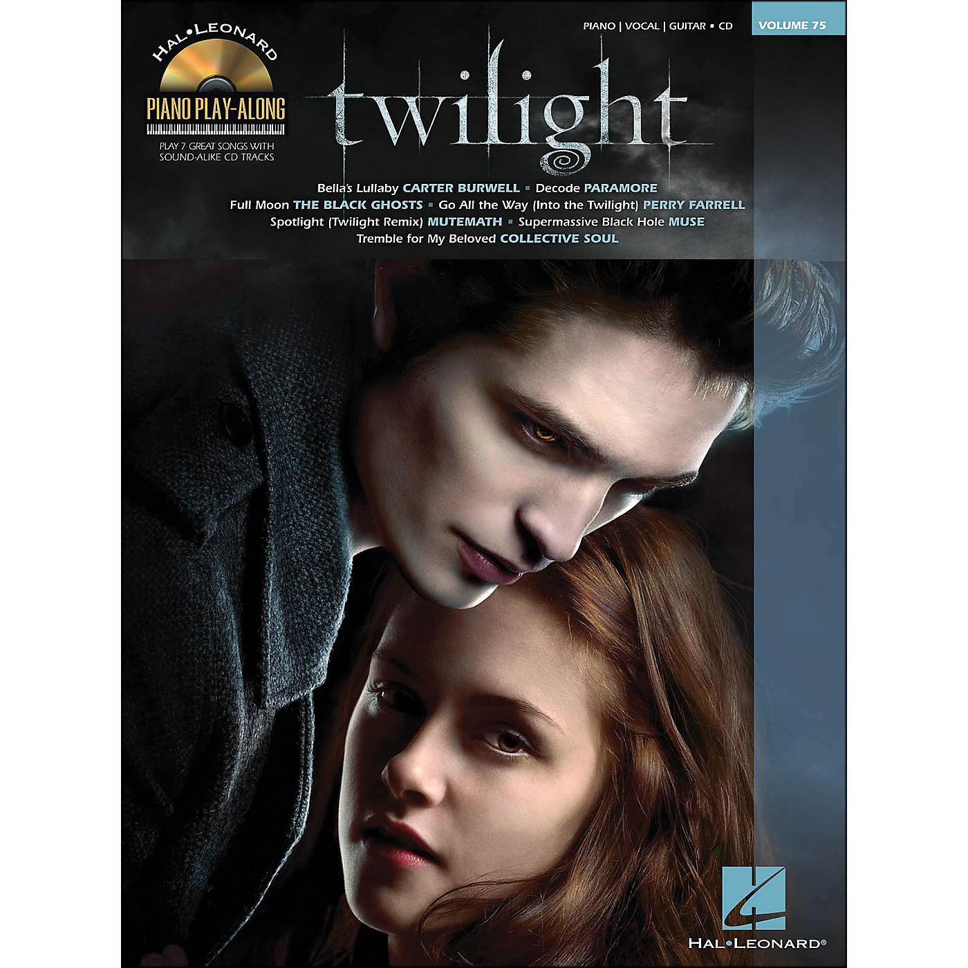 Hal Leonard Twilight - Music From The Motion Picture Soundtrack - Piano Play-Along Volume 75 (Book/CD) arranged for piano, vocal, and guitar (P/V/G) thumbnail
