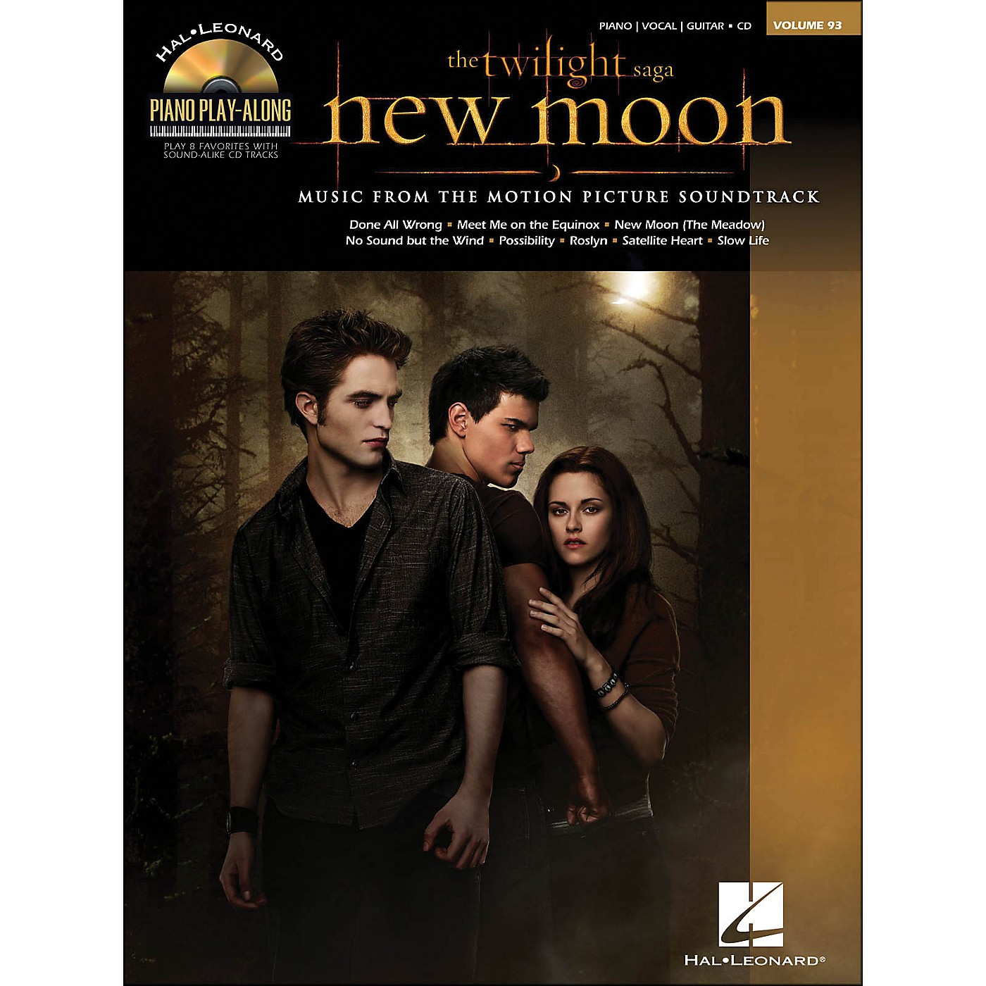 Hal Leonard Twilight: New Moon Music From The Soundtrack Book/CD Piano Play-Along Volume 93 arranged for piano, vocal, and guitar (P/V/G) thumbnail