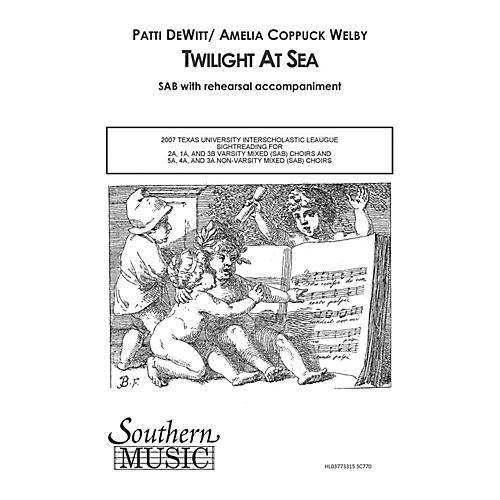 Hal Leonard Twilight at Sea (Choral Music/Octavo Secular Sab) SAB Composed by Dewitt, Patti thumbnail