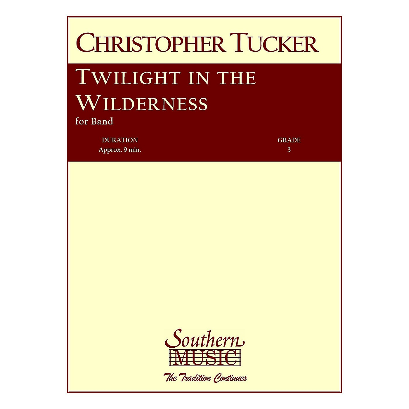 Southern Twilight in the Wilderness (Band/Concert Band Music) Concert Band Level 3 Composed by Christopher Tucker thumbnail