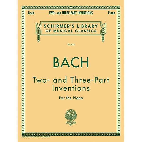 G. Schirmer Two And Three Part Inventions for The Piano By Bach thumbnail