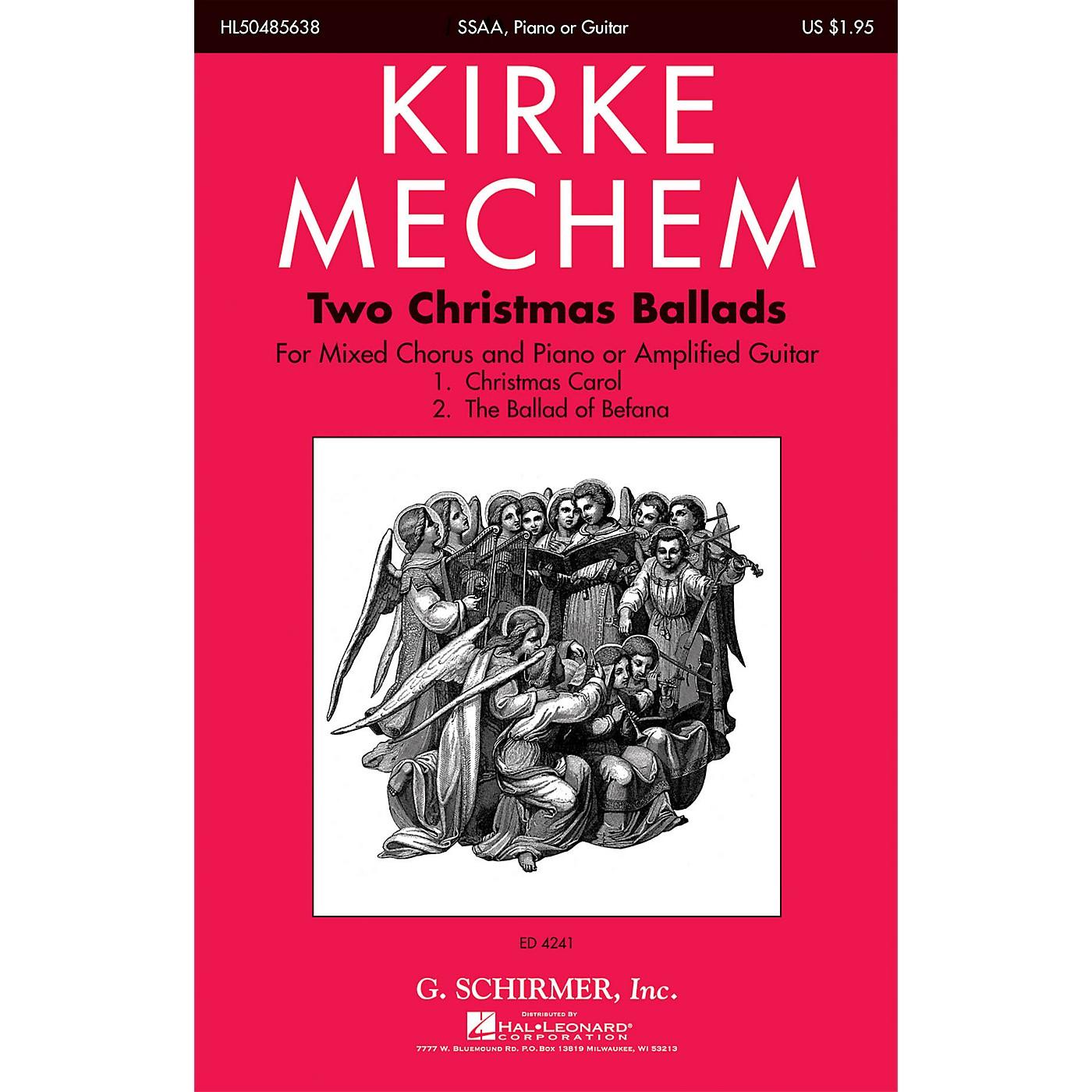 G. Schirmer Two Christmas Ballads SSAA composed by Kirke Mechem thumbnail