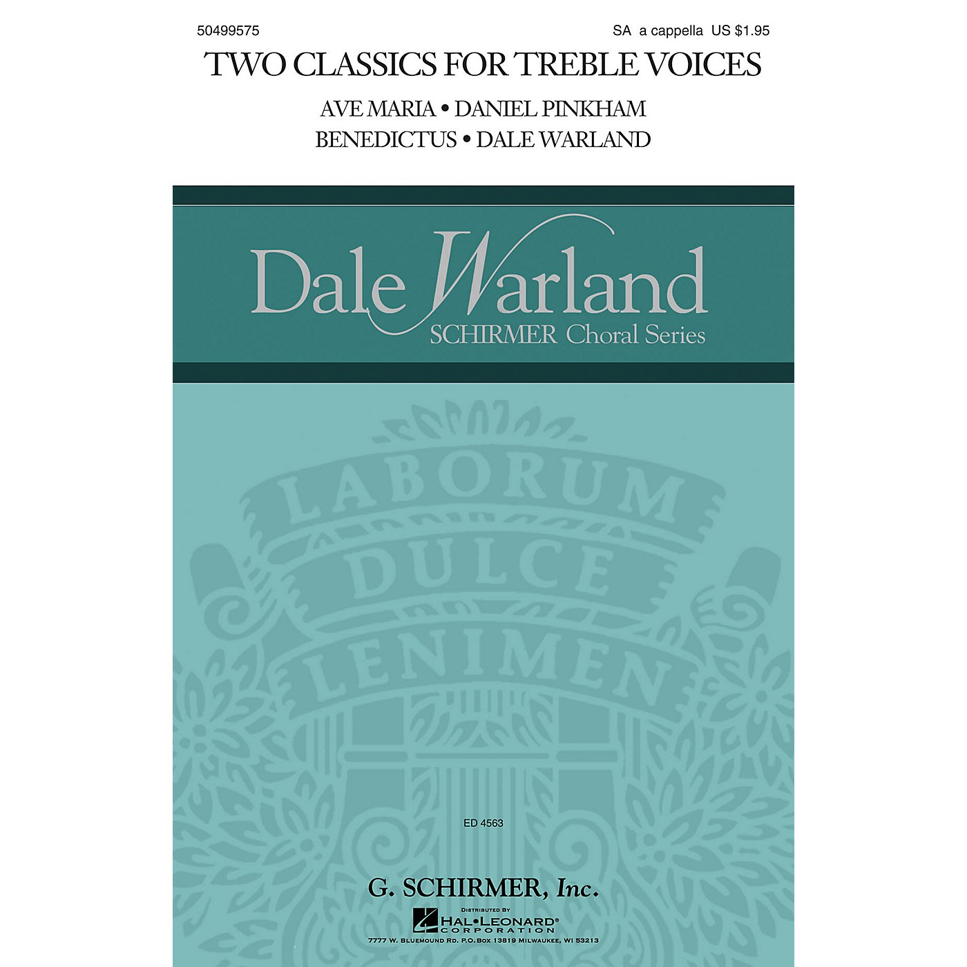 G. Schirmer Two Classics for Treble Voices (Ave Maria and Benedictus) SA A Cappella composed by Daniel Pinkham thumbnail