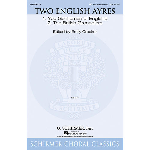 G. Schirmer Two English Ayres TB arranged by Emily Crocker thumbnail