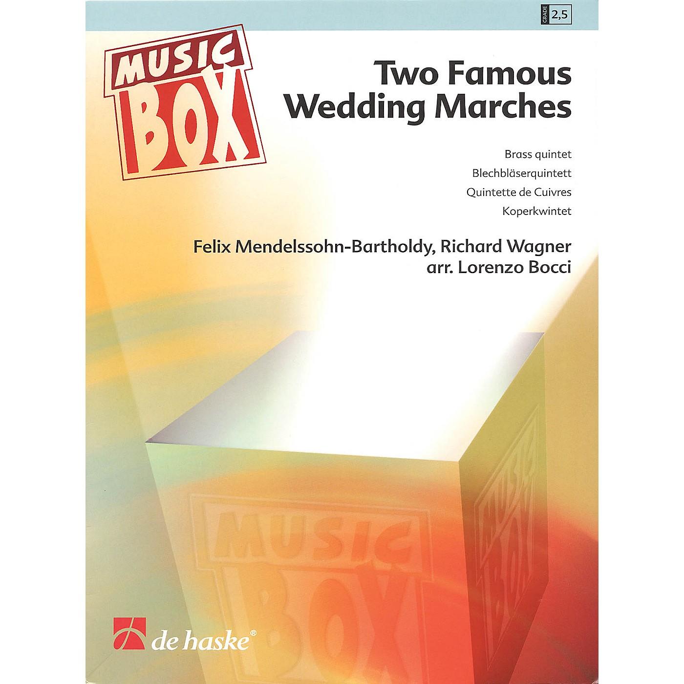 De Haske Music Two Famous Wedding Marches De Haske Ensemble Series Arranged by Lorenzo Bozzi thumbnail
