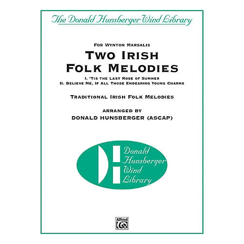 Alfred Two Irish Folk Melodies Concert Band Grade 4 Set thumbnail